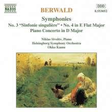 Franz Berwald (1796-1868): Symphonien Vol.2, CD