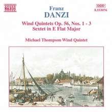 Franz Danzi (1763-1826): Bläserquintette op.56 Nr.1-3, CD