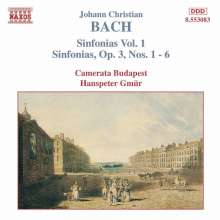 Johann Christian Bach (1735-1782): Symphonien Vol.1, CD