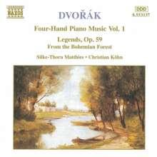 Antonin Dvorak (1841-1904): Klavierwerke zu 4 Händen Vol.1, CD