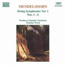 Felix Mendelssohn Bartholdy (1809-1847): Streichersymphonien Nr.1-6, CD