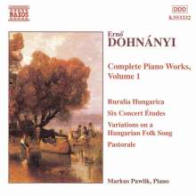Ernst von Dohnanyi (1877-1960): Klavierwerke Vol.1, CD