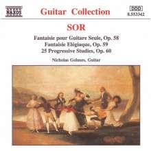 Fernando Sor (1778-1839): Fantasien op.58 & 59 für Gitarre, CD