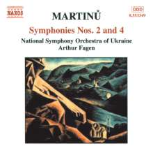 Bohuslav Martinu (1890-1959): Symphonien Nr.2 & 4, CD