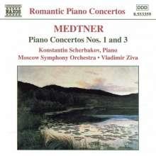 Nikolai Medtner (1880-1951): Klavierkonzerte Nr.1 & 3, CD