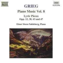 Edvard Grieg (1843-1907): Klavierwerke Vol.8, CD