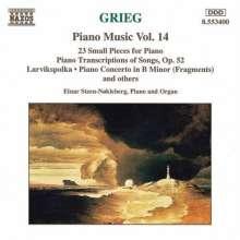 Edvard Grieg (1843-1907): Klavierwerke Vol.14, CD