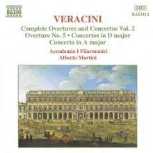 Francesco Veracini (1690-1768): Sämtliche Ouvertüren & Konzerte Vol.2, CD