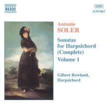 Antonio Soler (1729-1783): Sämtliche Cembalosonaten Vol.1, CD