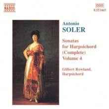 Padre Antonio Soler (1729-1783): Sämtliche Cembalosonaten Vol.4, CD