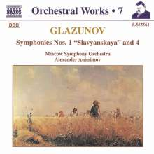 Alexander Glasunow (1865-1936): Symphonien Nr.1 & 4, CD