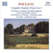 Francis Poulenc (1899-1963): Sämtliche Kammermusik Vol.5, CD