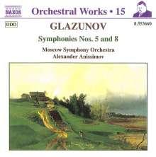 Alexander Glasunow (1865-1936): Symphonien Nr.5 & 8, CD