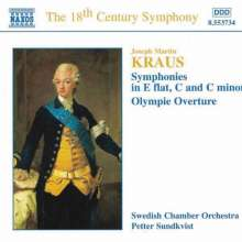 Josef Martin Kraus (1756-1792): Symphonien c-moll,C-Dur,Es-Dur, CD