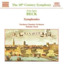 Franz Ignaz Beck (1734-1809): Symphonien op.10,2 & op.13,1, CD