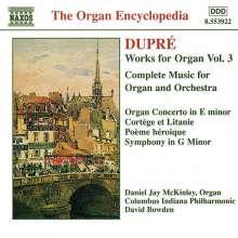 Marcel Dupre (1886-1971): Orgelwerke Vol.3, CD