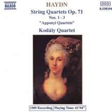 Joseph Haydn (1732-1809): Streichquartette Nr.69-71 (op.71 Nr.1-3), CD