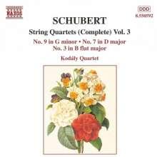 Franz Schubert (1797-1828): Streichquartette Nr.3,7,9, CD