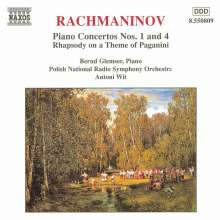 Sergej Rachmaninoff (1873-1943): Klavierkonzerte Nr.1 & 4, CD