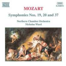 Wolfgang Amadeus Mozart (1756-1791): Symphonien Nr.19,20,37, CD