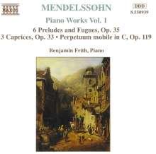 Felix Mendelssohn Bartholdy (1809-1847): Klavierwerke Vol.1, CD