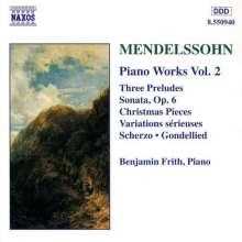 Felix Mendelssohn Bartholdy (1809-1847): Klavierwerke Vol.2, CD