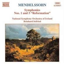 Felix Mendelssohn Bartholdy (1809-1847): Symphonien Nr.1 & 5, CD