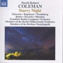 David Robert Coleman (geb. 1969): Starry Night für Klavier, Piccolo & Ensemble, CD