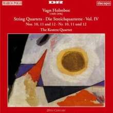 Vagn Holmboe (1909-1996): Streichquartette Nr.10-12, CD