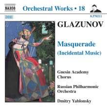 Alexander Glasunow (1865-1936): Masquerade (Bühnenmusik), CD