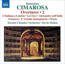 Domenico Cimarosa (1749-1801): Ouvertüren Vol.2, CD