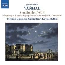 Johann Baptist (Jan Krtitel) Vanhal (1739-1813): Symphonien Vol.4, CD