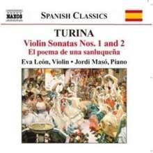 Joaquin Turina (1882-1949): Violinsonaten Nr.1 & 2 (op.51 & 82), CD