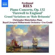 Ferdinand Ries (1784-1838): Klavierkonzert op.132, CD