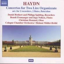Joseph Haydn (1732-1809): 5 Konzerte für 2 Lyren H7h Nr.1-5 (Bearbeitung für Flöten), CD