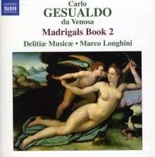 Carlo Gesualdo von Venosa (1566-1613): Madrigali Buch 2, CD