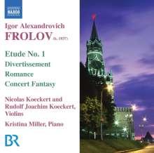 Igor Frolov (1937-2013): Musik für Violine & Klavier, CD