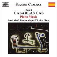 Benet Casablancas (geb. 1956): Klavierwerke, CD