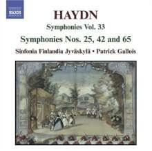 Joseph Haydn (1732-1809): Symphonien Nr.25,42,65, CD