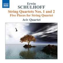 Erwin Schulhoff (1894-1942): Streichquartette Nr.1 & 2, CD