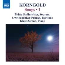 Erich Wolfgang Korngold (1897-1957): Lieder Vol.1, CD