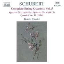 Franz Schubert (1797-1828): Streichquartette Nr.2,6,11, CD