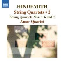 Paul Hindemith (1895-1963): Streichquartette Vol.2, CD