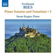 Ferdinand Ries (1784-1838): Klaviersonaten & Sonatinen Vol.3, CD