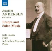 Joachim Andersen (1847-1909): Musik für Flöte & Klavier - Etüden & Salonmusik, CD