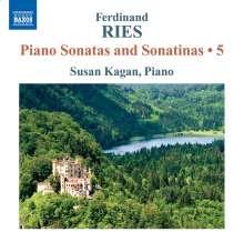 Ferdinand Ries (1784-1838): Klaviersonaten & Sonatinen Vol.5, CD