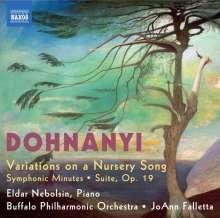 Ernst von Dohnanyi (1877-1960): Variationen über ein Kinderlied f. Klavier & Orchester op.25, CD