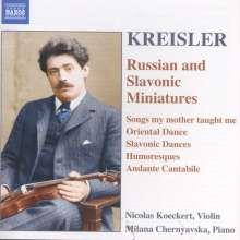 """Fritz Kreisler (1875-1962): Werke für Violine & Klavier """"Russian and Slavonic Miniatures"""", CD"""