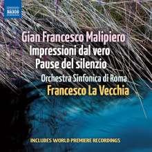 Gian Francesco Malipiero (1882-1974): Impressioni dal vero I-III, CD
