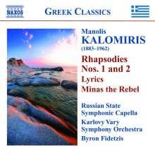 Manolis Kalomiris (1883-1962): Rhapsodien Nr.1 & 2, CD